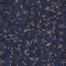 Casadeco Jardins Suspendus 85206501 GADAGNE Natur Reneszánsz kert tintakék sötétkék bézsarany fénylő mintarészletek tapéta