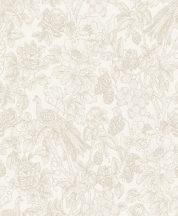 Casadeco Delicacy 85361274 FEATHER Organikus mozgalmas életkép/csendélet krémfehér bézs bézsarany irizáló mintafestés tapéta