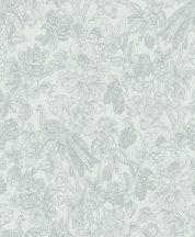 Casadeco Delicacy 85366151 FEATHER Organikus mozgalmas életkép/csendélet szürkésfehér szürkéskék irizáló mintafestés tapéta