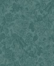 Casadeco Delicacy 85366461 FEATHER Organikus mozgalmas életkép/csendélet türkiz fekete irizáló mintafestés tapéta