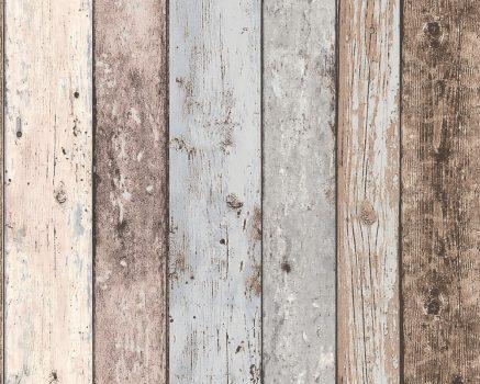 As-Creation Elements/New England 8550-39 Natur deszkaminta bézs barna kék tapéta