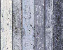 As-Creation Elements/Surfing & Sailing 8550-60 Natur deszkaminta kék szürke fekete fehér tapéta