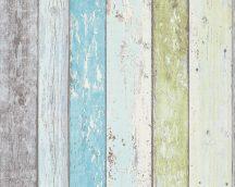 As-Creation Elements/Surfing & Sailing 8550-77 Natur deszkaminta kék zöld fehér tapéta