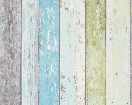 As-Creation Elements Surfing & Sailing 8550-77 Natur deszkaminta kék zöld fehér tapéta