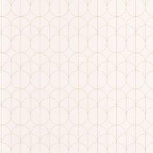 Casadeco 1930, 85690020 REFLET Geometrikus finom rajzolatú díszítőminta krém bézs arany fényló mintarajzolat