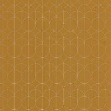 Casadeco 1930, 85692323 REFLET Geometrikus finom rajzolatú díszítőminta okker/aranysárga bézsarany fényló mintarajzolat tapéta
