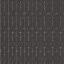 Casadeco 1930, 85699509  REFLET Geometrikus finom rajzolatú díszítőminta antracit arany fényló mintarajzolat tapéta