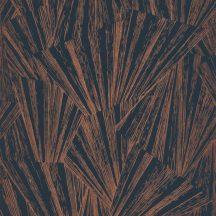 Casadeco 1930, 85746535 ECLAT FOIL Asszimetrikus geometriai ábra fénysugarak irizáló és fémes festéssel sötétkék bronz tapéta