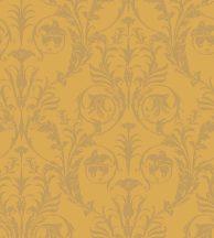 Casadeco Montsegur 86022235 TRIANON Klasszikus botanikai díszítőminta sárga arany fémes hatás tapéta