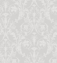 Casadeco Montsegur 86029254 TRIANON Klasszikus botanikai díszítőminta szürke ezüstfehér fémes hatás tapéta