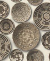 Rasch b.b home passion 862003 etno kézzel festett zulu-tálak homok bézs barna krém tapéta