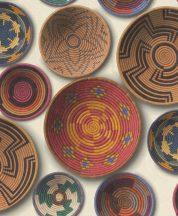 Rasch b.b home passion 862010  etno kézzel festett zulu-tálak szines tapéta