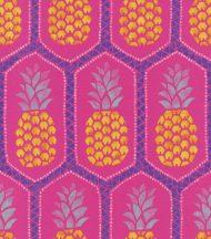 Rasch b.b home passion 862126  egzotikus ananász minta erós pink sárga kék tapéta