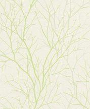 Rasch Sightseeing 881844 Natur szerteágazó finom ágak krémfehér zöld matt és fényes effekt tapéta