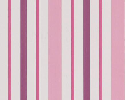 Boys & Girls 6, 8983-19 Gyerekszobai csíkos rózsaszín lila pink fehér tapéta