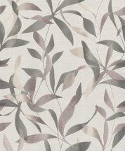 Rasch My Moments 899528 Natur levélminta törtfehér szürkésbarna szürke lila tapéta
