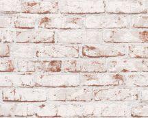 As-Creation Elements/New England 9078-13 Natur/Ipari design téglaminta fehér vörös tapéta