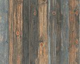 As-Creation Wood'n Stone 9086-12 famintás bézs barna szürkéskék szürke tapéta