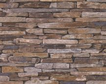 As-Creation Wood'n Stone 9142-17 kőmintás szürke barna tapéta