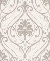 Rasch Brooklyn II, 933802 Klasszikus barokkminta krémfehér szürkésbézs ezüst tapéta