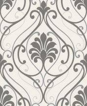 Rasch Brooklyn II, 933826 Klasszikus barokkminta fehér szürke ezüst tapéta