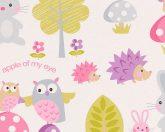 As-Creation Boys & Girls 6, 93555-1 Gyerekszobai erdei állatok fehér szines tapéta