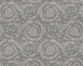As-Creation Versace 3, 93583-6  klasszikus virágmintás szürke barna  tapéta