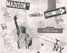 Boys & Girls 6, 93625-1  tapéta Gyerekszobai New York fehér szürke ezüst fekete tapéta