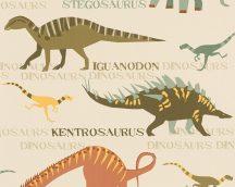 As-Creation Boys & Girls 6, 93633-1 Gyerekszobai dinoszauruszok bézs szines tapéta