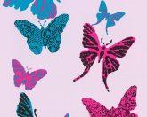 As-Creation Boys & Girls 6, 93634-2 Gyerekszobai szines pillangók rózsaszín szines tapéta