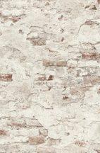 Rasch Factory III, 939309 kopott málladozó téglafal krémfehér szürke barna tapéta