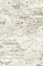 Rasch Factory III, 939316  kopott málladozó téglafal krémfehér szürke bézs tapéta