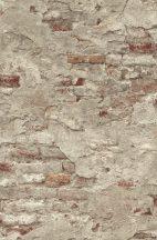 Rasch Factory III, 939323  kopott málladozó téglafal szürke szürkésbézs vörösesbarna tapéta