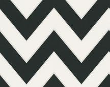 METROPOLIS by MICHALSKY LIVING London 93943-1 cikk-cakk minta  fehér fekete  tapéta