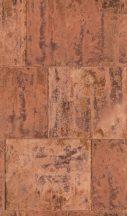 Rasch Factory III, 939736  Vintage patinás acéllemez rozsdabarna szürke barna tapéta