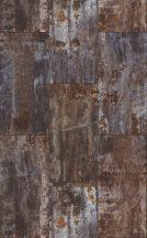 Rasch Factory IV 940909 Natur/Ipari design fémes betonlapok erős használati nyomokkal  barna szürke rézszín ezüst falpanel