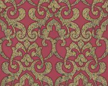 As-Creation Hermitage 9, 94342-1 Klasszikus damaszt fémes megjelenítéssel piros/vörös sárga arany tapéta