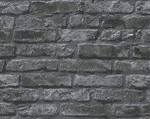 As-Creation Dekora Natur 6, 95470-1 Natur valósághű téglamintázat szürke antracit fekete tapéta