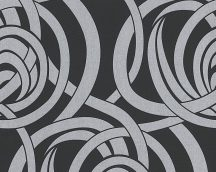 As-Creation Flock 4, 95693-2 Design grafikus fekete szürke ezüst tapéta