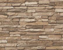 As-Creation Dekora Natur 6, 95833-2 Natur kőfal 3D krém bézs barna tapéta