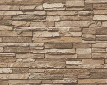 As-Creation Elements/Dekora Natur 6, 95833-2 Natur kőfal 3D krém bézs barna tapéta