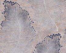 As-Creation Bohemian Burlesque 96045-3 Natur gyöngyökkel díszített tollminta bézs szürke kék fémes hatás tapéta