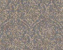 As-Creation Bohemian Burlesque 96047-3 Klasszikus barokk díszítőminta bézs kék aranybarna fémes hatás tapéta
