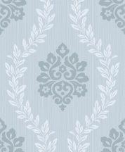 Grandeco Fusion A23404  barokkminta kék fehér tapéta