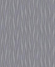 Grandeco Fusion A24002  hullámok csíkos szürkéskék  kék  ezüst tapéta
