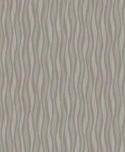 Grandeco Fusion A24003  hullámok csíkos szürke barna  ezüst tapéta
