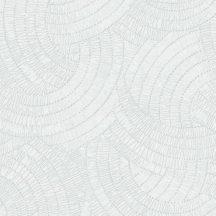 Grandeco Phoenix A48101 Grafikus Váltakozó körívek törtfehér szürke ezüstszürke csillogó mintarajzolat tapéta