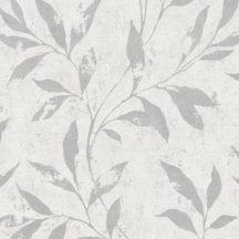 Grandeco Phoenix A48301 Natur Levélágak törtfehér fényes ezüstszürke mintarajzolat tapéta