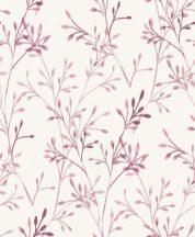 Grandeco Phoenix A48801 Natur nönényi ágak akvarell megjelenítés fehér rózsaszín mályva tapéta