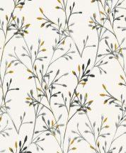 Grandeco Phoenix A48802 Natur nönényi ágak akvarell megjelenítés fehér szürke fekete aranysárga tapéta